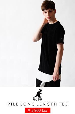 KANGOL REWARD パイルロング丈Tシャツ